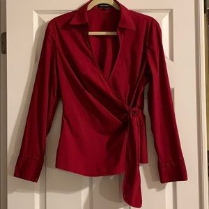 Express Red Wrap Shirt Size Large